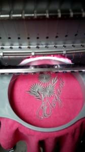 Пример машинной вышивки